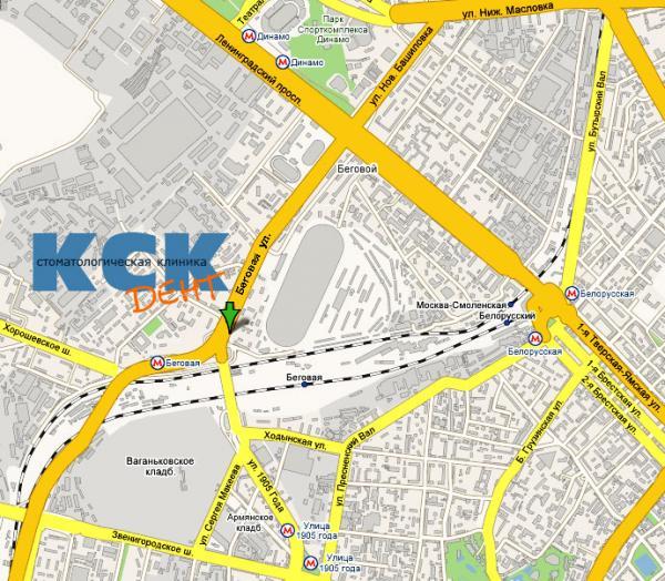Схема проезда: КСК-ДЕНТ