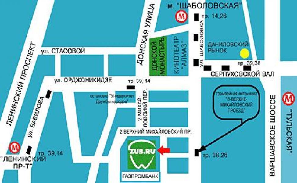 Ближайшее метро: Шаболовская