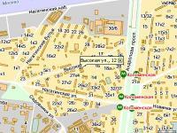 Схема проезда: ИВА-дент Стоматология Коломенская улица Высокая, дом 12.