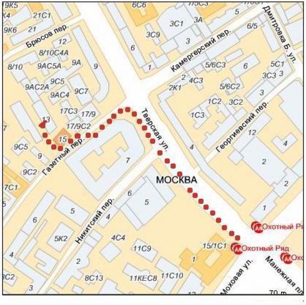 Схема проезда: Центр